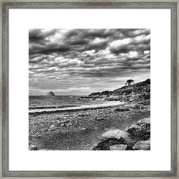 The Mewstone, Wembury Bay, Devon #view Framed Print