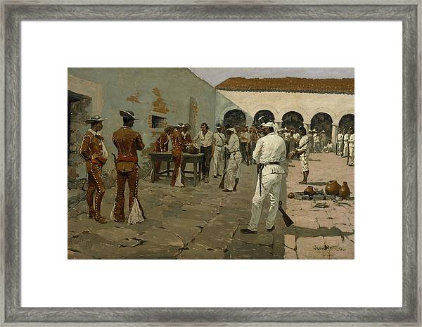 The Mier Expedition The Drawing Of The Black Bean  Framed Print