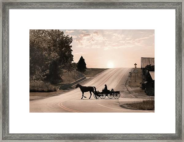 The Milk Run Framed Print
