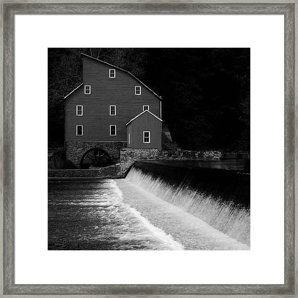 The Mill - Black And White Framed Print