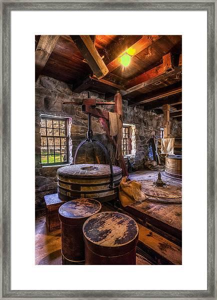 The Milling Room Framed Print