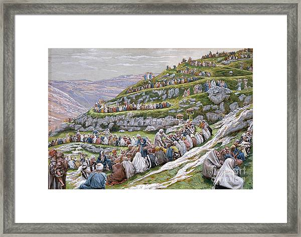 The Miracle Of The Loaves And Fishes Framed Print