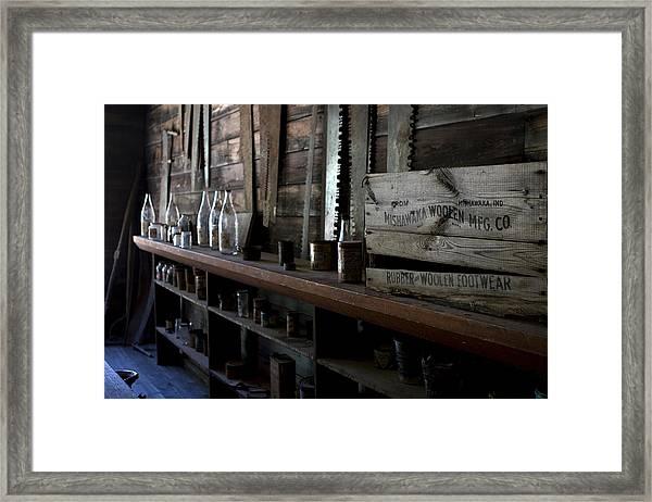 Framed Print featuring the photograph The Mishawaka Woolen Bar by Lorraine Devon Wilke