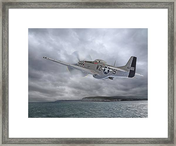 The Mission - P51 Over Dover Framed Print