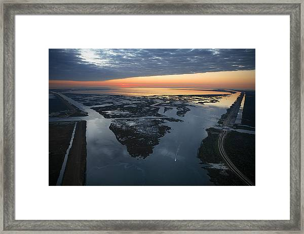 The Mississippi River Gulf Outlet Framed Print