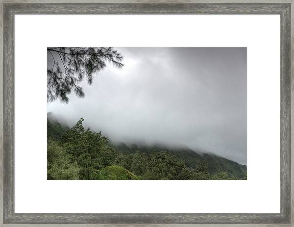 Framed Print featuring the photograph The Mist On The Mountain by Break The Silhouette