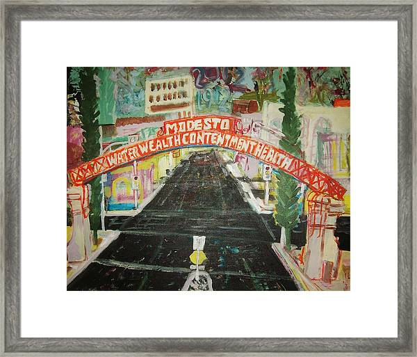 the Modesto Arch  Framed Print by James Christiansen