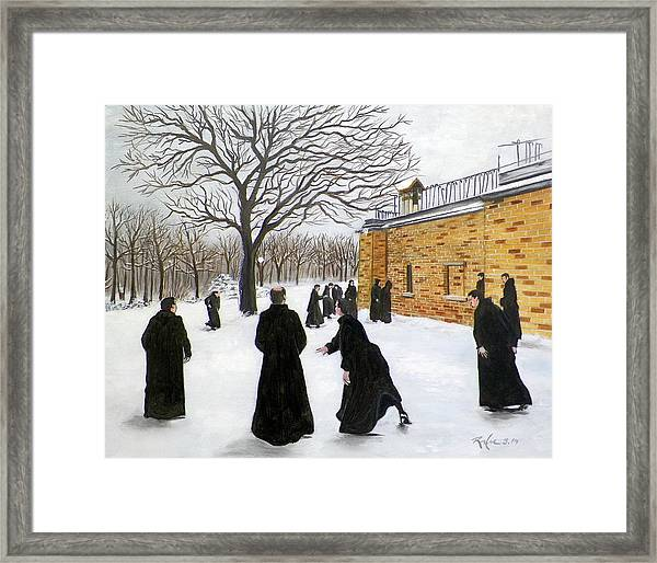 The Monks Of Clear Creek Abby Framed Print