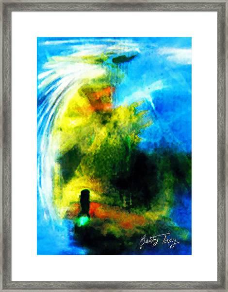 The Monster In Me Framed Print