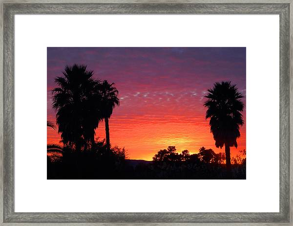 The Moody Views Framed Print