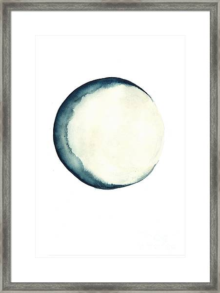 The Moon Watercolor Poster Framed Print
