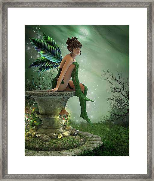The Moonlight Fairy Framed Print