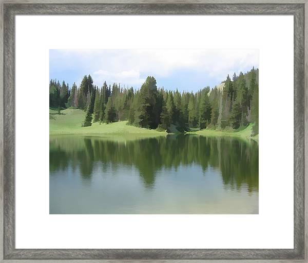 The Morning Calm Framed Print