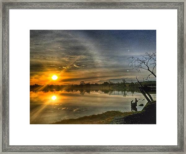 The Morning Sun Dog Framed Print