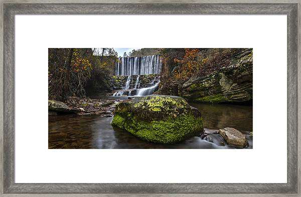 The Mossy Rock Framed Print