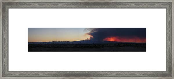 The Mount Charleston Fire Framed Print