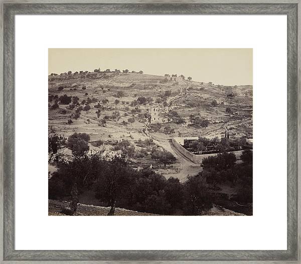 The Mount Of Olives And Garden Of Gethsemane Framed Print