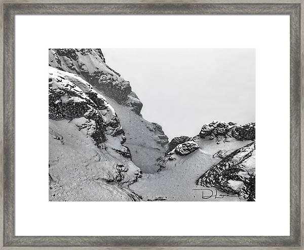 Framed Print featuring the photograph The Mountain Abyss by David A Lane