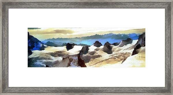 The Mountain Paint Framed Print