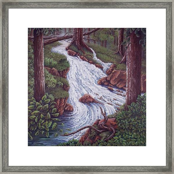 The Mountain Roars Framed Print