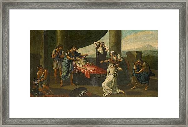 The Mourning Of Alexander The Great Framed Print