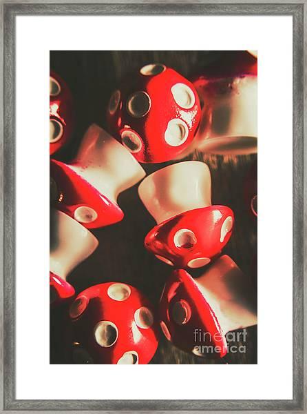 The Mushroom Stack Framed Print