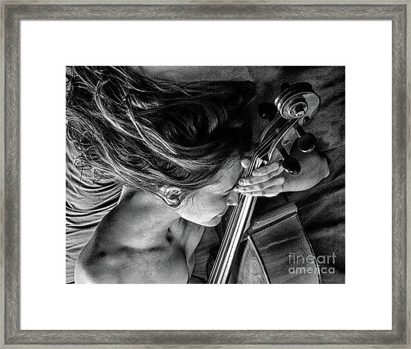 The Music Lovers  Framed Print by ManDig Studios