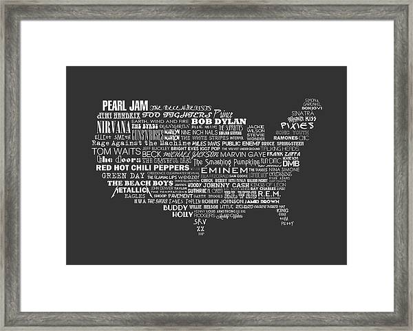 The Music Of America Limited Edition Typographic Poster Print by Philip  Walsh