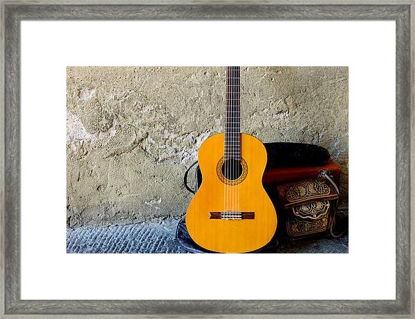 The Music Of Lucca Framed Print by Christine Buckley
