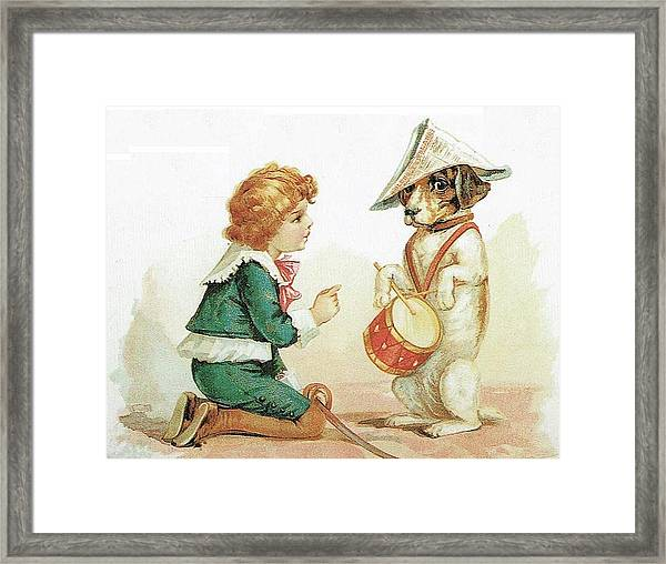 The Musical Pooch Framed Print