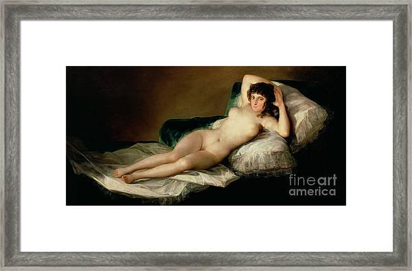 The Naked Maja Framed Print