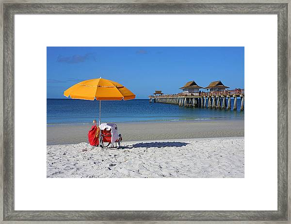 The Naples Pier Framed Print