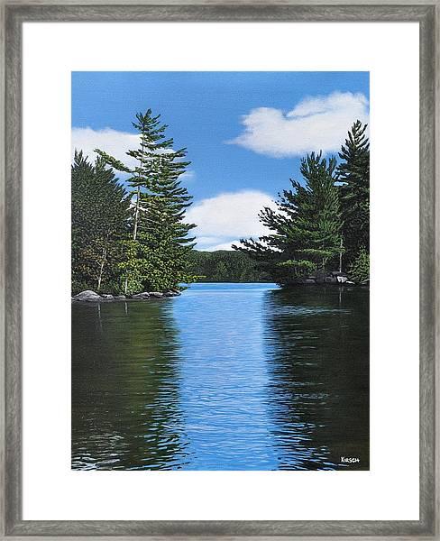 The Narrows Of Muskoka Framed Print