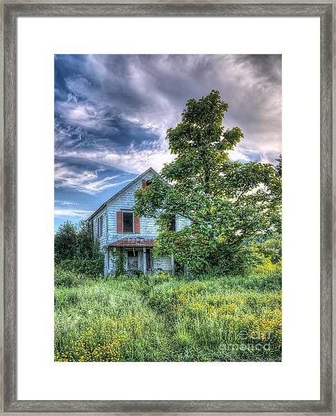 The Nathaniel White Farm House Framed Print