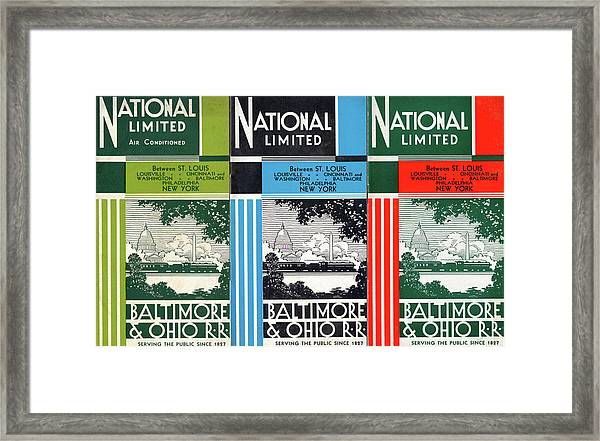 The National Limited Collage Framed Print