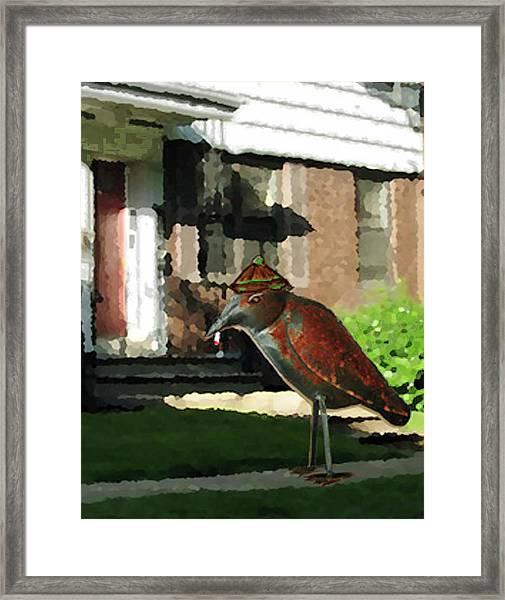 The Neighbor Lady Framed Print