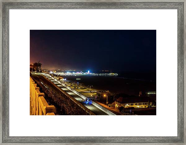 The New California Incline - Night Framed Print