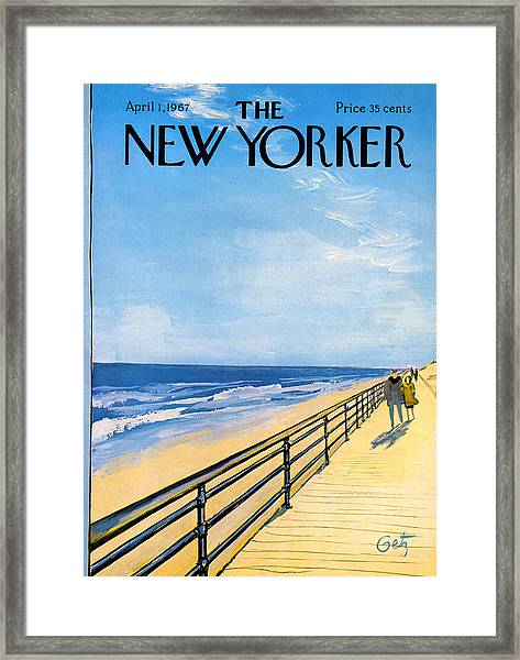 The New Yorker Cover - April 1st, 1967 Framed Print