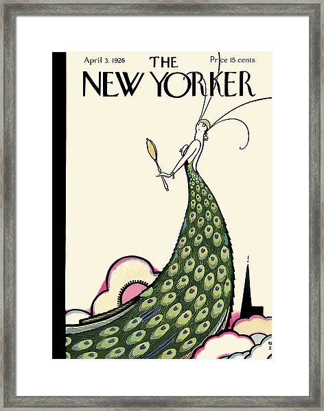The New Yorker Cover - April 3rd, 1926 Framed Print