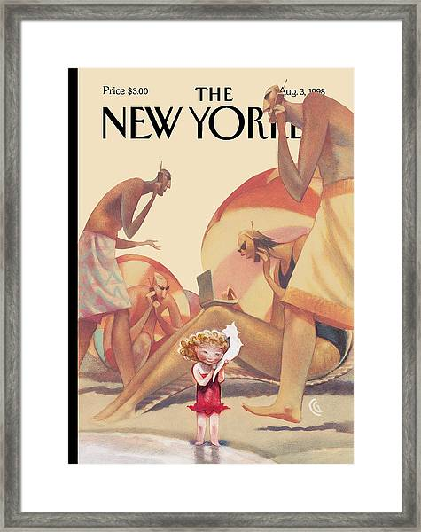 The New Yorker Cover - August 3rd, 1998 Framed Print