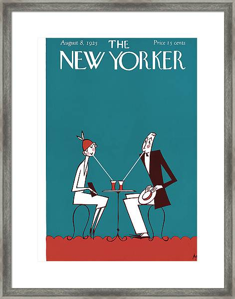The New Yorker Cover - August 8th, 1925 Framed Print