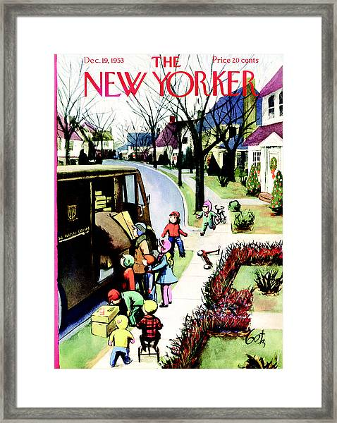 The New Yorker Cover - December 19th, 1953 Framed Print by Conde Nast