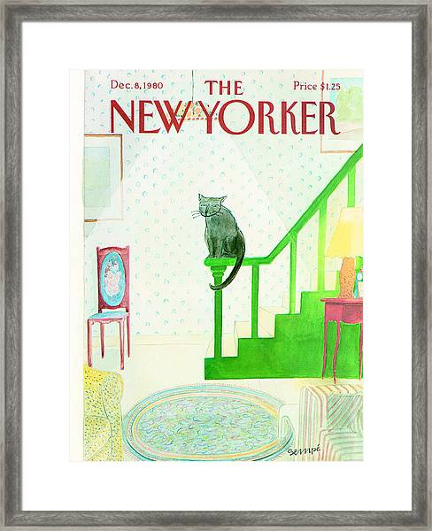 The New Yorker Cover - December 8th, 1980 Framed Print