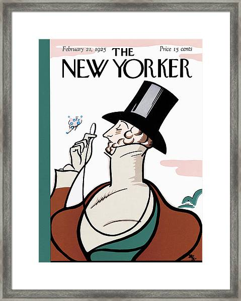 The New Yorker Cover - February 21st, 1925 Framed Print