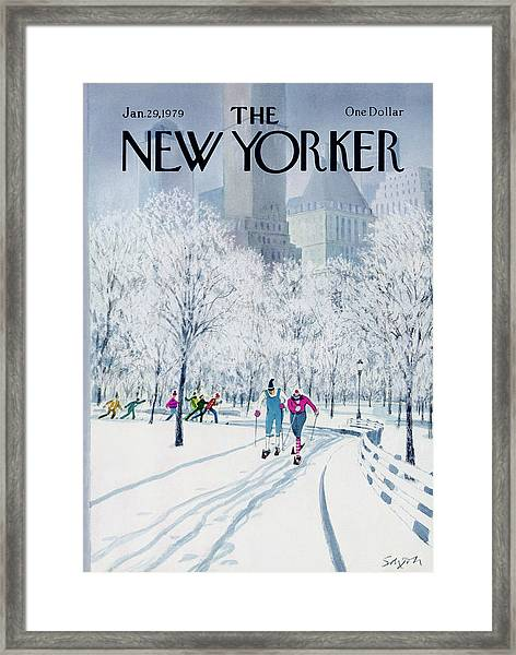 The New Yorker Cover - January 29th, 1979 Framed Print by Charles Saxon