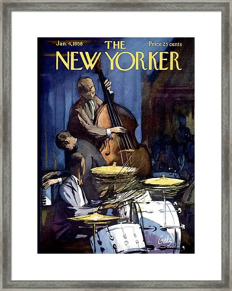 The New Yorker Cover - January 4th, 1958 Framed Print
