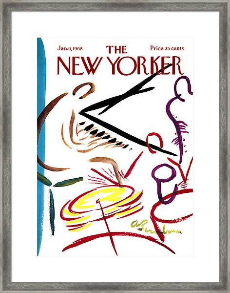 The New Yorker Cover - January 6th, 1968 Framed Print by Conde Nast