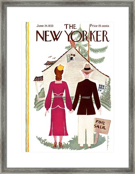 The New Yorker Cover - June 24th, 1933 Framed Print by Conde Nast