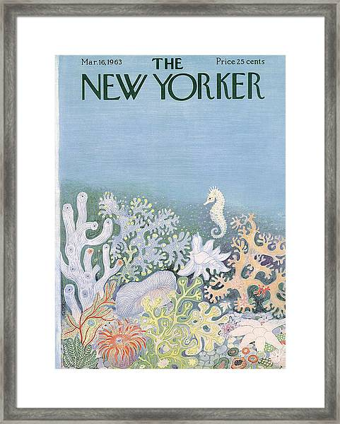 New Yorker Cover - March 16th, 1963 Framed Print