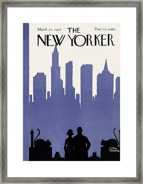 The New Yorker Cover - March 21st, 1925 Framed Print
